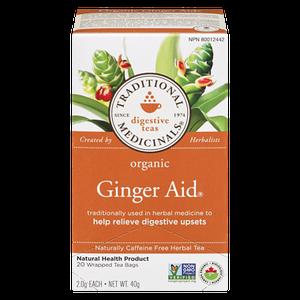 Organic Green Tea with Ginger (20 ea ) - TRADITIONAL MEDICINALS