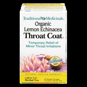 Organic Lemon Echinacea Throat Coat Herbal Tea (20 ea) - TRADITIONAL MEDICINALS