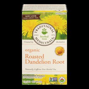 Organic Roasted Dandelion Root Herbal Tea (20 ea) - TRADITIONAL MEDICINALS