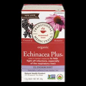 Organic Echinacea Plus Elderberry Herbal Tea (20 ea) - TRADITIONAL MEDICINALS