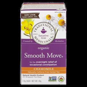 Organic Smooth Move Chamomile Herbal Tea (20 ea) - TRADITIONAL MEDICINALS