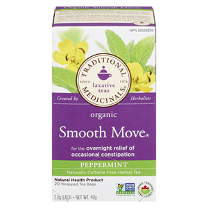 Organic Smooth Move Peppermint Herbal Tea (20 ea) - TRADITIONAL MEDICINALS