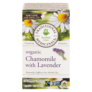 Organic Chamomile Herbal Tea with Lavender (20 ea) - TRADITIONAL MEDICINALS