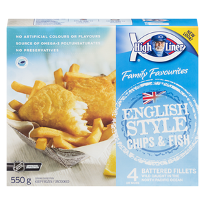 English Style Chips & Fish (550 g) - High liner