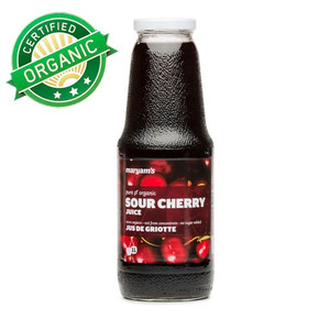 Organic Sour Cherry Juice, Not From Concentrate 1L - Maryam
