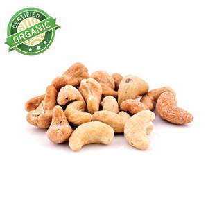 Organic Dry Roasted Salted Cashews  (1/2 lb)