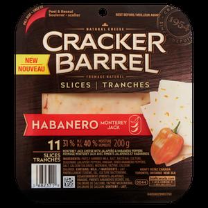 Cracker Barrel Monterey Jack Cheese with Jalapeño & Habanero Peppers, 31 % M.F - Kraft
