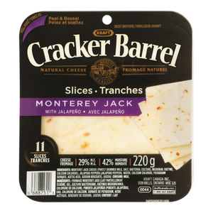 Cracker Barrel Cheese Slices, Monterey Jack (220 g) - Kraft
