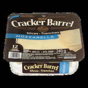 Cracker Barrel Cheese Slices, Mozzarella (240 g) - Kraft