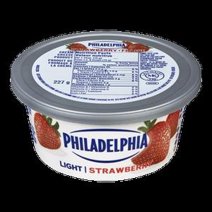 Soft Cream Cheese, Light Strawberry (227 g) - Philadelphia