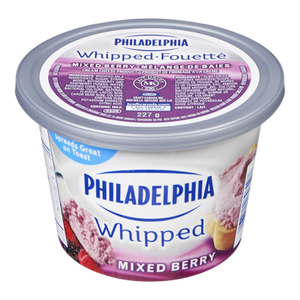 Whipped Cream Cheese, Mixed Berry (227 g) - Philadelphia