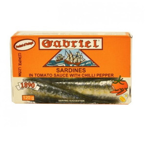 Sardines in Tomato Sauce With Chili 120 gr - Gabriel