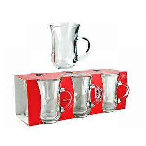 Tea Glasses with Handle Set of 6 - Pasabahce