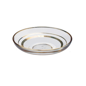 Tea Saucers Gold Trim Design (6 Pc) - Pasabahce
