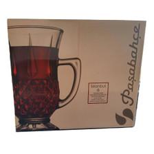 Handled Tea Glasses Set of 6 Gift Box - Pasabahce