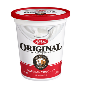 Original Balkan Style Yogurt, Plain 6% (750 g) - Astro