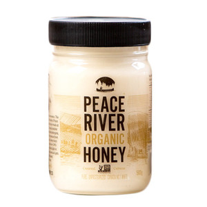 Organic Unpasteurized Creamed Honey 500gr - Peace River