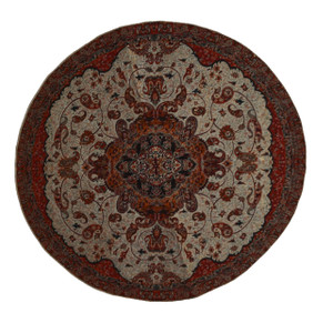 "Termeh Round Tablecloth Fahimeh Gold (Dia 37.5"")"