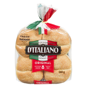 Bread, Crustini Hamburger Buns (568 g) - d'Italiano