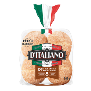 Whole Wheat Crustini Buns (568 g) - d'Italiano