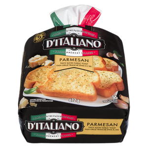 Bake At Home Thick Sliced Garlic Parmesan Bread (672 g) - d'Italiano