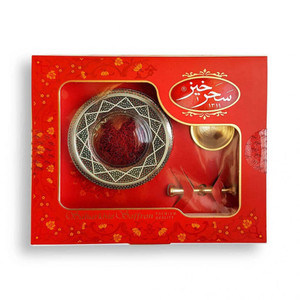 All Red Saffron 4gr Metal & Mortar - SaharKhiz