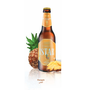 Non-alcoholic malt drink with Pineapple Bottle 325ml - Istak
