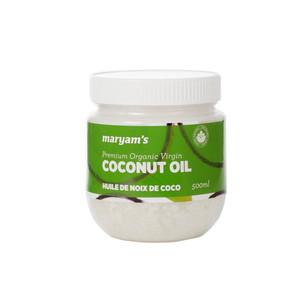 Organic Non-GMO Refined Coconut Oil 500ml - Maryam
