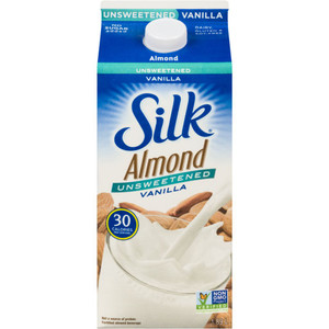 Almond Beverage, Unsweetened Vanilla 1.89 L - Silk