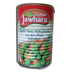 Easy Open Green Peas & Carrots (400 gr) - Jawahara