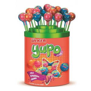 10 x Lollipop Candy (mix of Strawberry, Orange and Cola) - Ulker