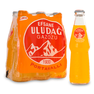 Carbonated Orange Soft Drink (Legendary Uludağ Gazoz) 6x250ml - Uludag
