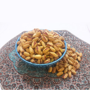 Long Roasted Salted Saffron Pistachios  with Lime (Akbari) (1/2 lb)