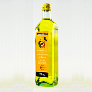 100% Pure Grape seed Oil Cholesterol Free 750 ml - Italisma