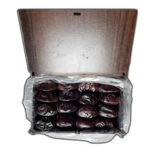 Fresh Mazafati Dates (Rotab) 450gr in Wooden Gift Box - Verka