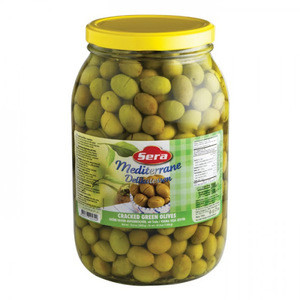 Turkish Mega Green Olives 2000gr - Sera