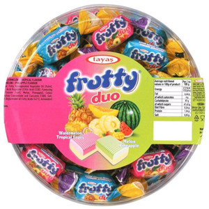 Assorted Soft Tropical Fruit Chewy Candy 1000gr - Tayas