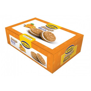Orange Flavor Cream Biscuit 400gr - Gorji