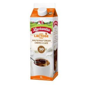 Half & Half Cream, 10% 1L - LACTANTIA