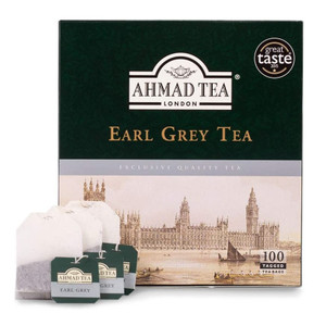 Black Tea with Earl Grey 100 Tea Bags​ (+ Free 40gr Loose Tea) - Ahmad Tea