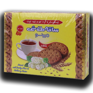 Saghe Talaei Biscuit with Barley Flour and Mulberry Nectar 750gr - Minoo