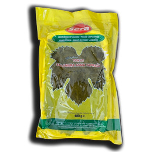 Vacuum Fresh Grape (Vine) Leaves Jar 400gr - Sera