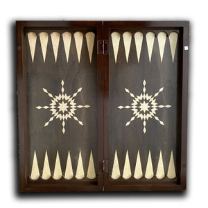 Wooden Backgammon / Chess Board Game with Cover