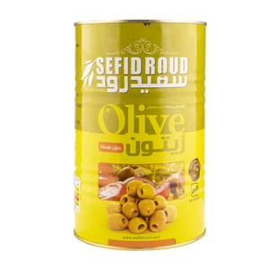 Pitted Green Olives 4400gr - Sefidroud