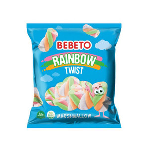 Rainbow Twist Halal Marshmallow Mix 70gr - Bebeto
