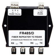 FR485/D:  RS 485 to Dual Fiber Optic Repeater