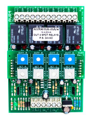 AVR4C:  4 Channel Adjustable Voltage Sensitive Relay Voltage Milliamp Input