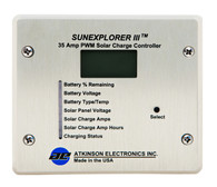 SunExplorer III:  35 Amp Solar MPT/PWM Charge Controller and Display