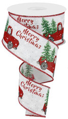 "2.5""X10YD MERRY CHRISTMAS TRUCK W/TREE"
