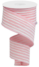 "2.5""X10YD IRREGULAR STRIPES ON ROYAL - PALE PINK/WHITE"